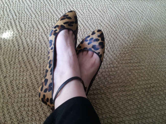 Calf hair flats with ankle strap by Madewell