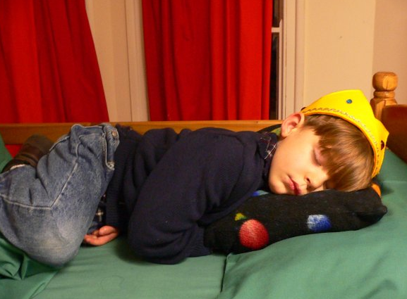 Years ago, my sleepy prince after his frist day of school, Oxford, England
